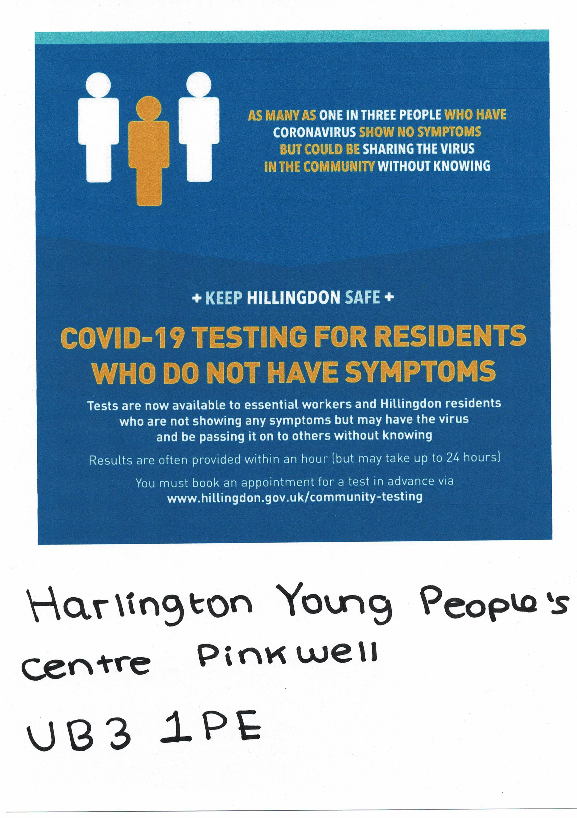 COVID Test Booking Poster